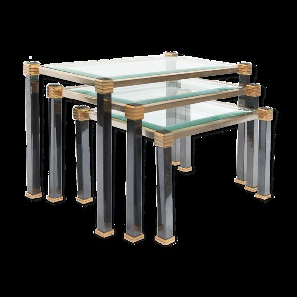 Set de 3 tables gigognes