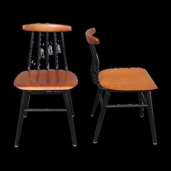 Paire de chaises scandinaves en teck Pinnjo par Albin Johansson Hyssna