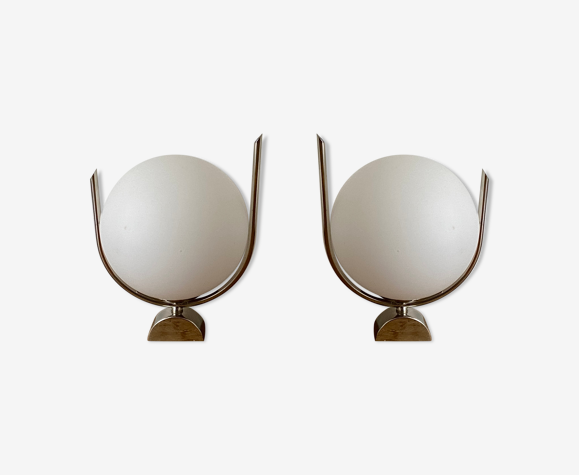Paire d'appliques Spoutnik 1970