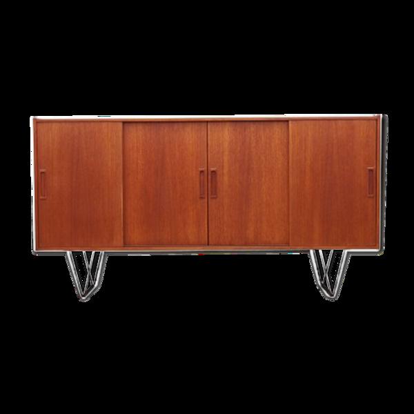 Enfilade en teck, design danois, années 1970, production: Danemark