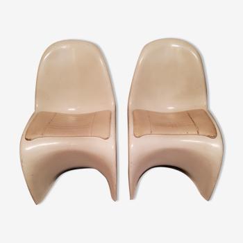 Set de 2 chaises de Verner Panton 1970