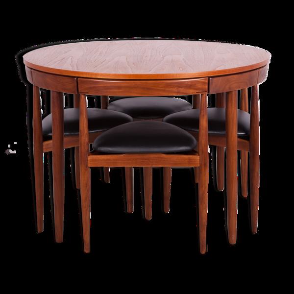 Selency Table & 4 chaises par Hans Olsen pour Frem Røjle, années 1950