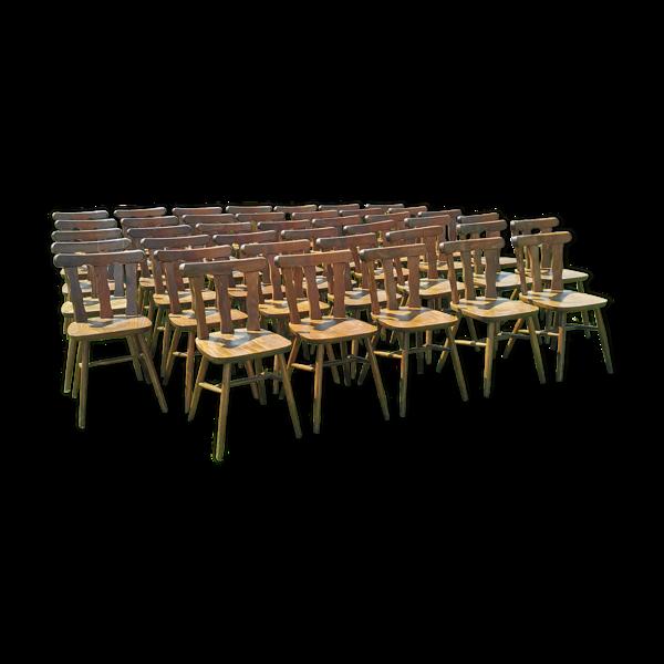 Lot de 40 chaises bistrot