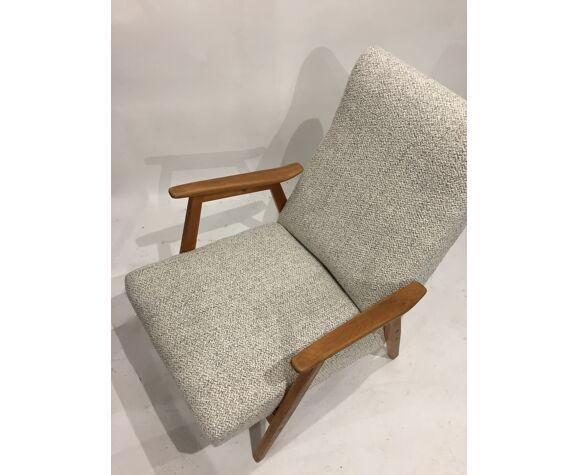 60s chair retaped grey mottled