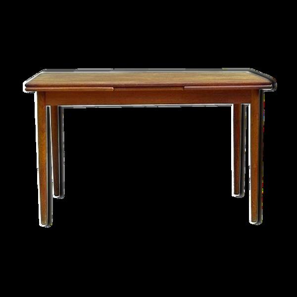 Table de repas danoise par Verner Pedersen scandinave teck 1950 estampillée