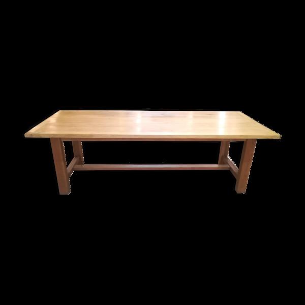Table de ferme en chêne clair