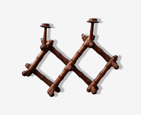 Wooden bistro coat rack with hat holder