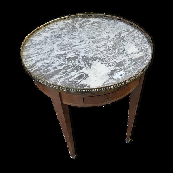 Table bouillotte dessus marbre