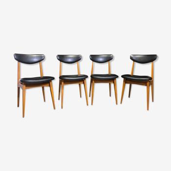 Set de 4 chaises design années 60