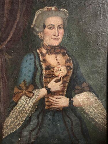 Portrait d'une femme de qualité XVIIIème