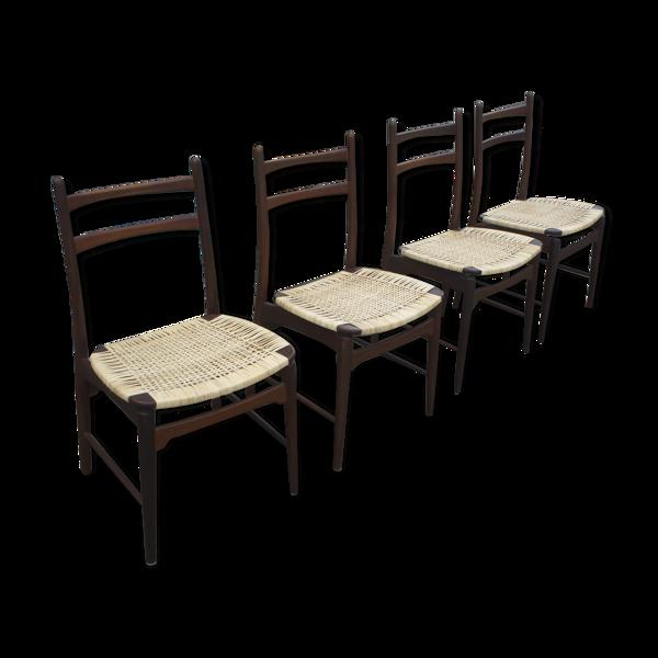 Selency Lot de 4 chaises de Georg Leowald pour Wilkhahn, Allemagne, années 1950