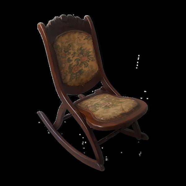 Chaise berçante pliante