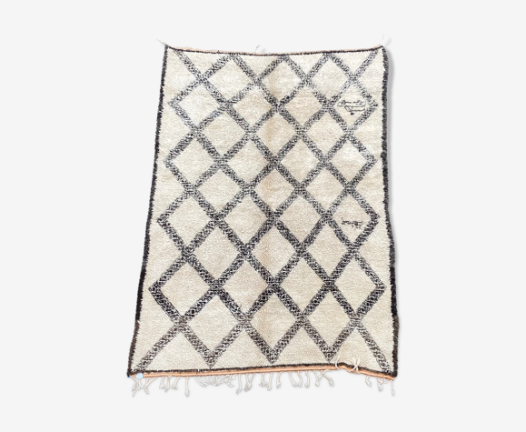 Tapis berbere Beni Ouarain ancien 225x360 cm