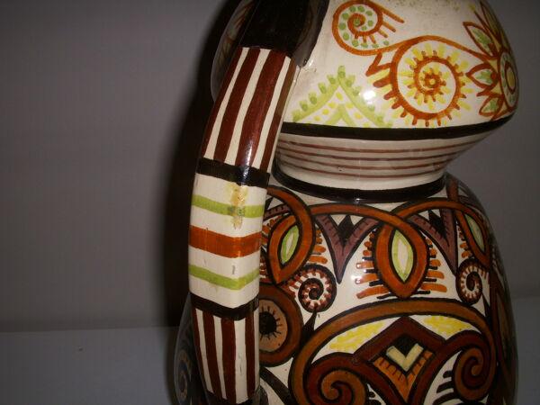 Vase en faïence de Quimper signé Paul Fouillen