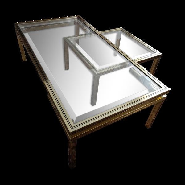 Selency Tables salon Pierre Vandel avec petite table assortie