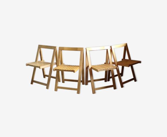 4 chaises pliantes vintage italiennes