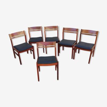 Set de 6 chaises scandinaves