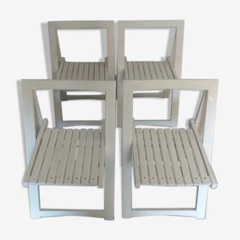 Lot de 4 chaises pliantes vintage années 70