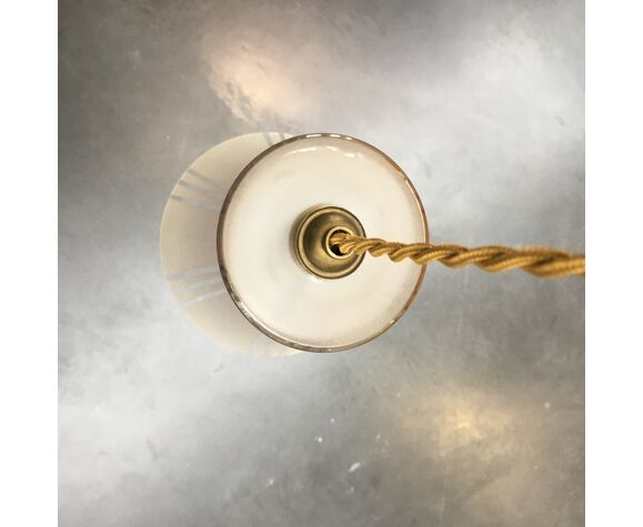 Suspension Art déco en verre dépoli