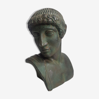 Bust of Aurige in patinated plaster, 22 cm