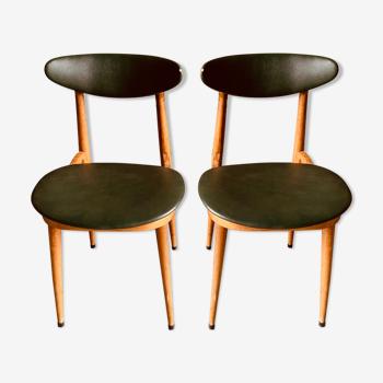 2 chaises Baumann - modèle licorne
