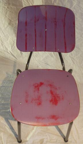 Paire de chaises tube acier empilables