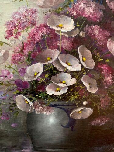 Peinture «Nature morte aux fleurs».