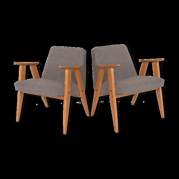 Paire de fauteuils 1962 de J. Chierowski restaurés