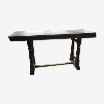 Table bistrot en chêne vintage