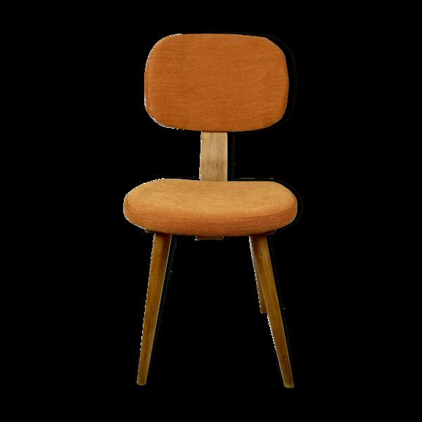 Chaise vintage orange, années 1970