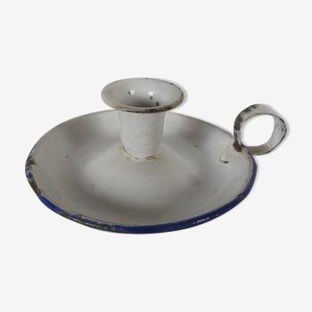 Porte-bougie en porcelaine d'émail blanc