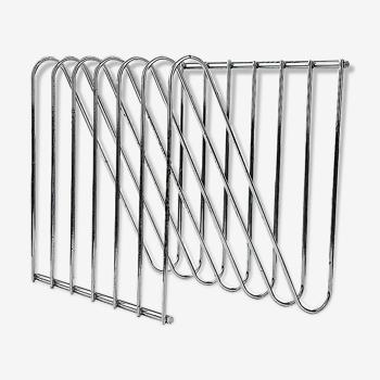 Porte-revues chromé en acier