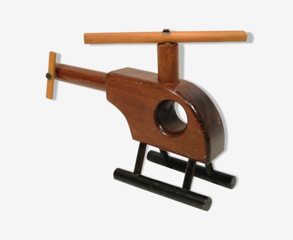 Vintage Wooden Toy Helicopter