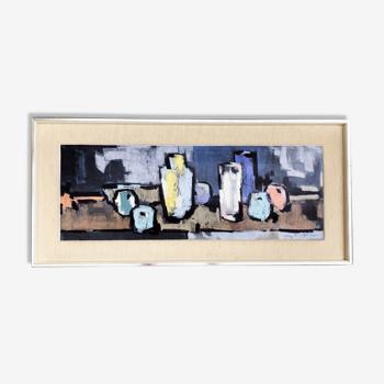 """Sérigraphie d'art """" La table aux  pommes"""""""