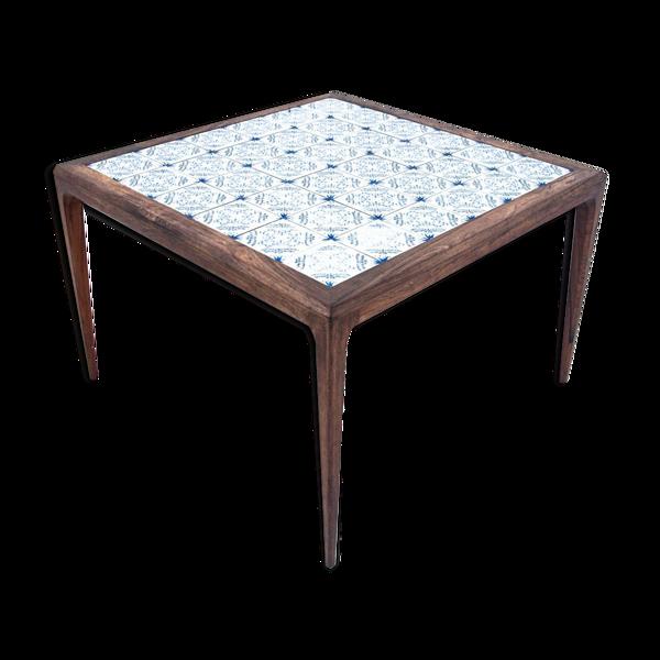 Selency Table basse avec carreaux de céramique, design danois, années 1960
