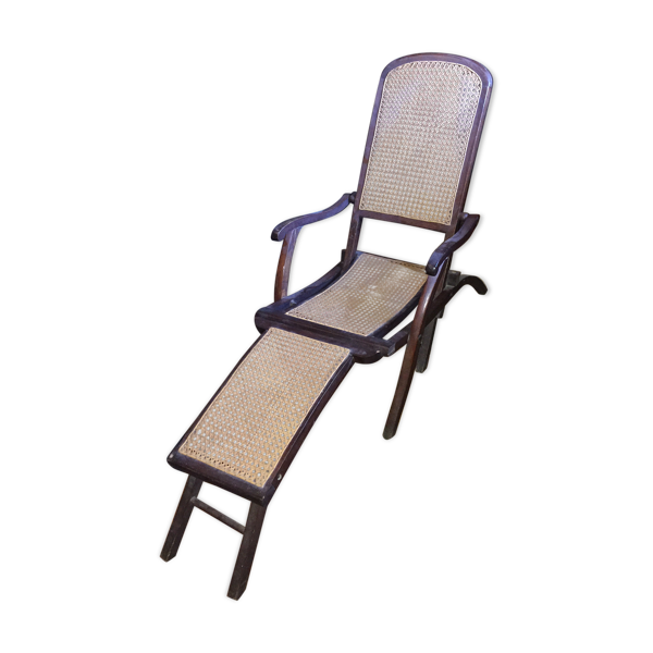 Selency Chaise longue cannée