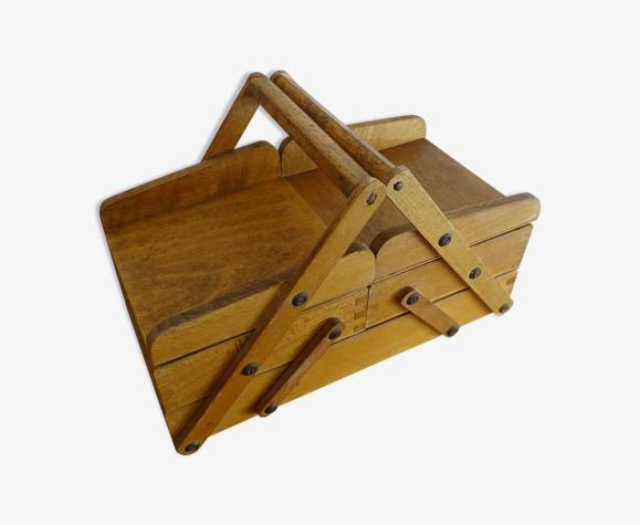 Travailleuse à poser en bois vintage