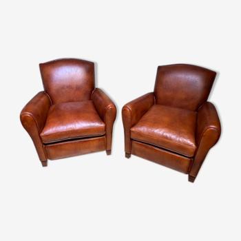 Paire de fauteuils club