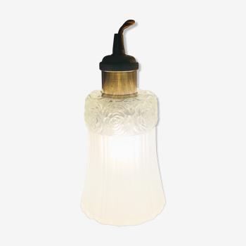 Baladeuse à suspendre ou poser-  verre moulé des années 1960