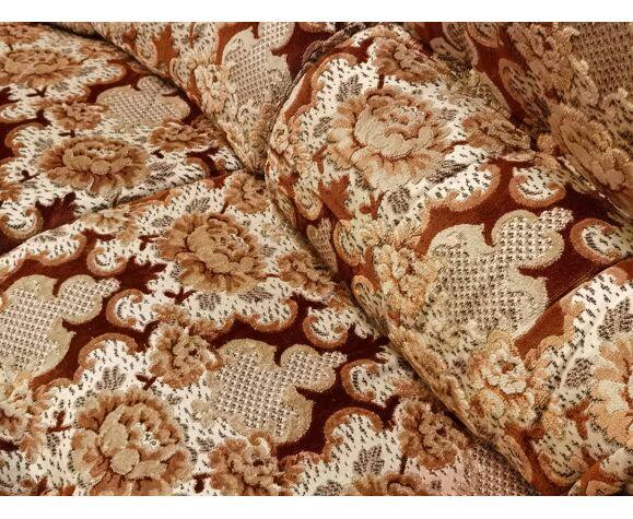 Salon année 70 modulable motif floral