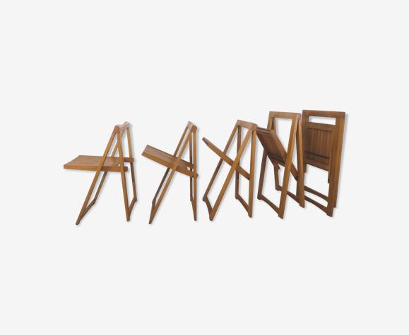 Chaises pliantes design années 70