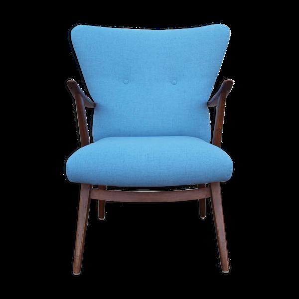 Fauteuil des années 1950 en bleu clair