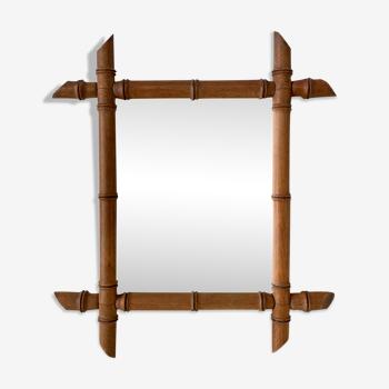 Miroir bambou 43x48cm