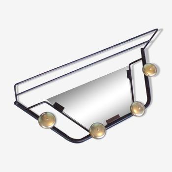 Portemanteau métal avec miroir