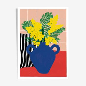 "illustration ""le mimosa"" - A4"