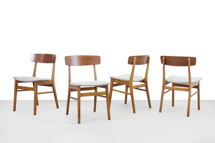 Ensemble de quatre chaises