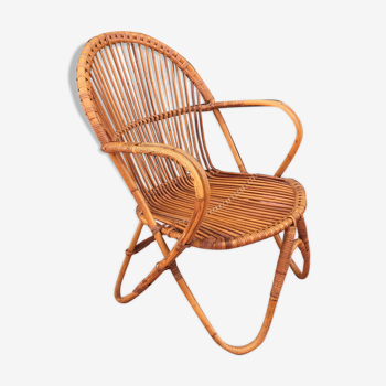 Rattan armchair 1960s