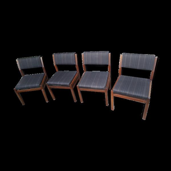 Set de 4 chaises SA07 Cees Braakman pour Pastoe vintage scandinave