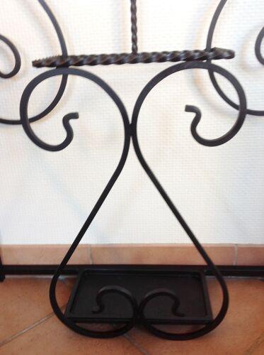 Porte manteaux en fer forgé noir 50/60
