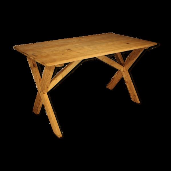 Selency Table en sapin naturel